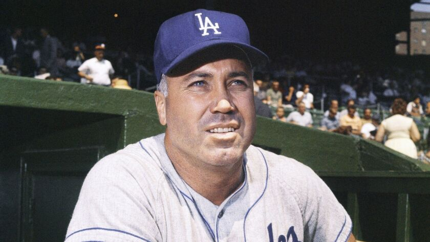Duke Snider with the Dodgers in 1962.