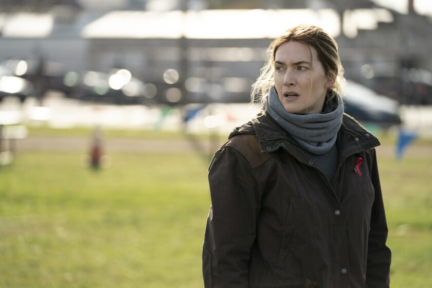"""Kate Winslet in a scene from HBO's """"Mare of Easttown."""""""