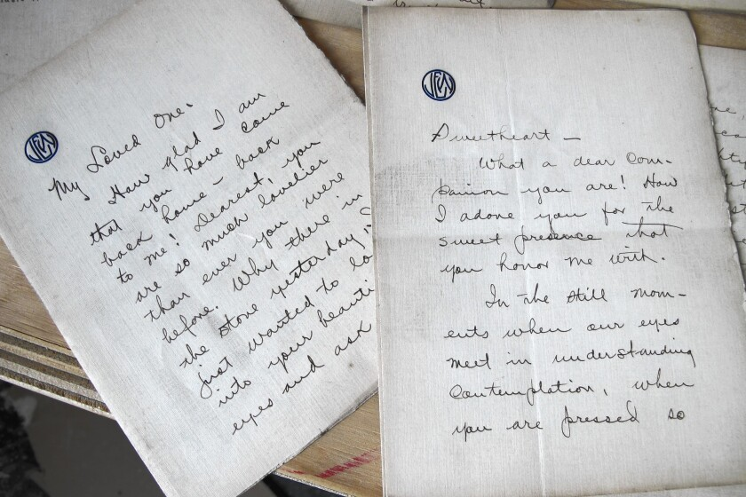 """""""You make me so mad with love,"""" wrote J. Edwin in one of the 15 letters to a woman named Annie. Archivists and amateur genealogists think the couple married two years after the letters were written."""