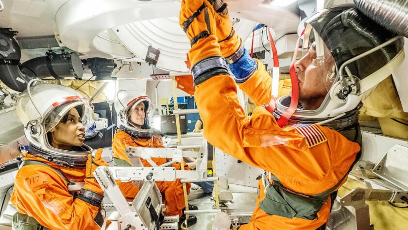 NASA astronauts and engineers test equipment to be used on future long-distance space flights.