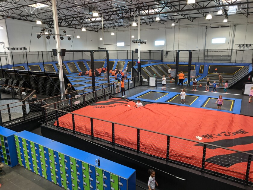 A new Sky Zone indoor trampoline park will open in Carlsbad on March 7.