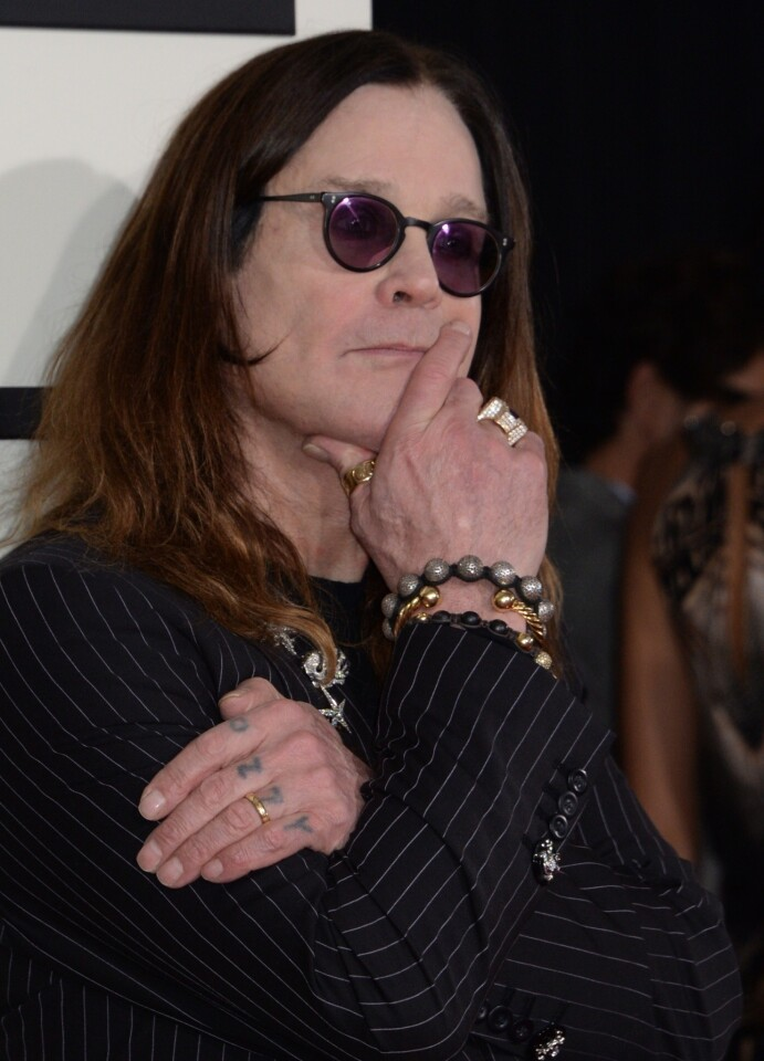 """Sweetest red carpet moment: Ozzy Osbourne giving a shout-out to his daughter, Kelly, who was covering the pre-show as a correspondent for E! """"I love you, Kelly!"""" Osbourne shouted into the E! microphones. """"I love you more, dada!"""" Kelly responded via the remote video link. Who doesn't want an aging heavy metal rocker for a dad? By Patrick Kevin Day"""
