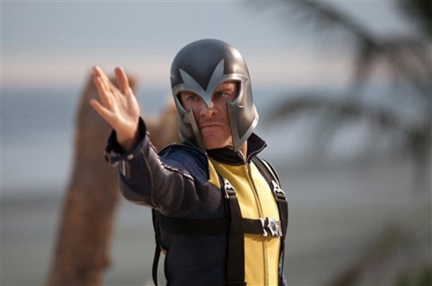 """In this film publicity image released by 20th Century Fox, Michael Fassbender portrays Erik Lehnsherr in a scene from """"X-Men: First Class."""" (AP Photo/20th Century Fox, Murray Close)"""