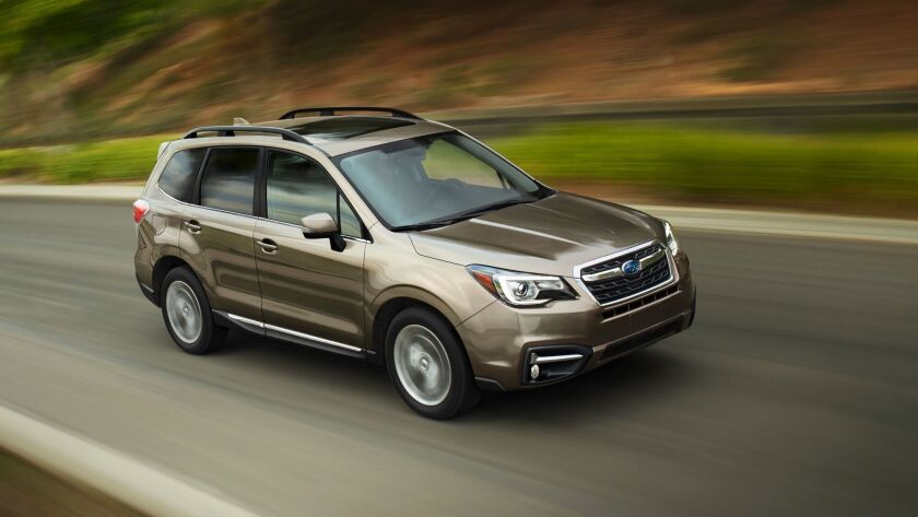 """The 2017 Forester has been given a significant """"midcycle refresh,"""" including a new face and more soundproofing."""