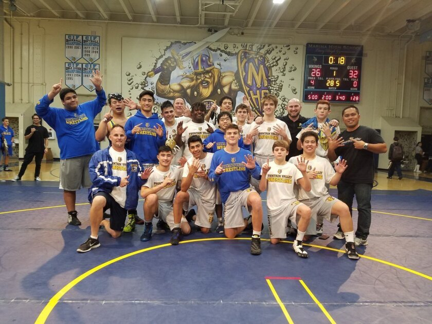 The Fountain Valley High wrestling team captured its sixth straight Sunset League championship.