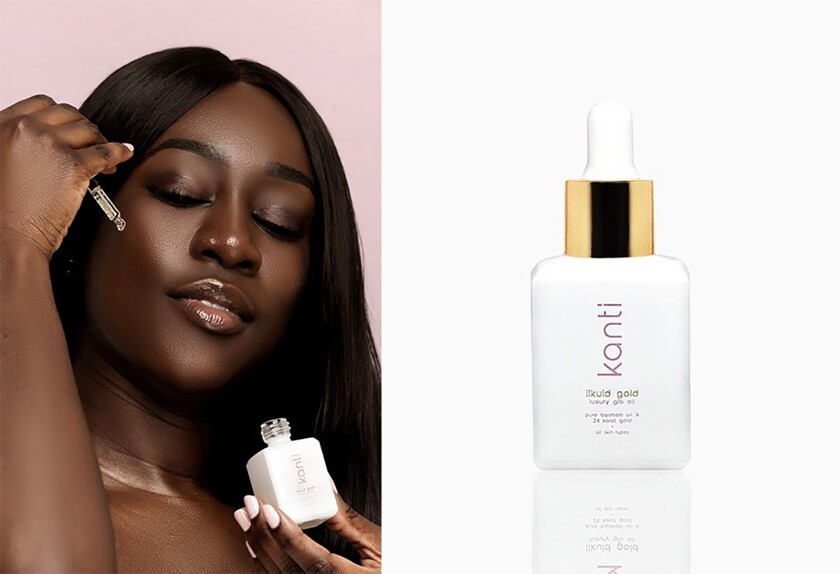 Likuid Gold Luxury Glo Oil by Kanti, a new line targeted toward millennials of color.