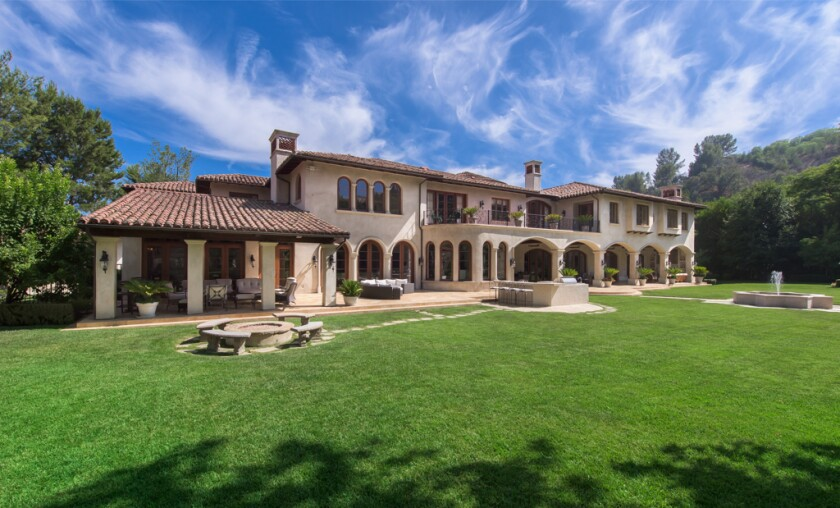 The 2.5 acre estate is focused on a gated Mediterranean villa of over 17,000 square feet.