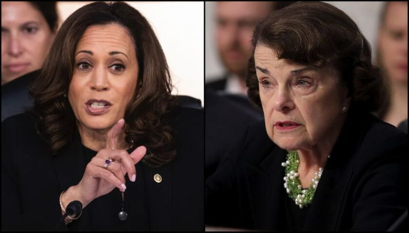 feinstein says she supports joe biden for 2020 and notes that sen kamala harris is brand new here los angeles times feinstein says she supports joe biden