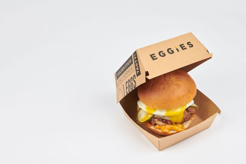 """What Came First"" breakfast sandwich from Eggies."