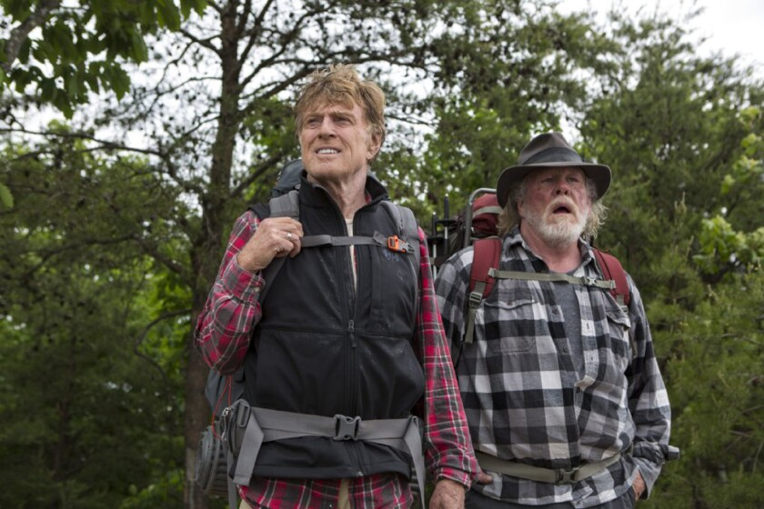 """Robert Redford, left, and Nick Nolte in """"A Walk in the Woods."""""""