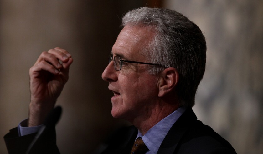 Los Angeles City Councilman Paul Krekorian, shown in 2012, is proposing an ordinance that would require residents to secure handguns when they aren't being used, either by storing them in a locked container or disabling them with a trigger lock.