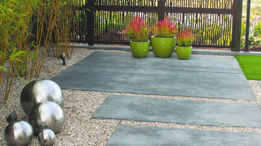 A partial view of Sara Bendrick's design work on the backyard of Benson and Jane Lo in Serra Mesa.