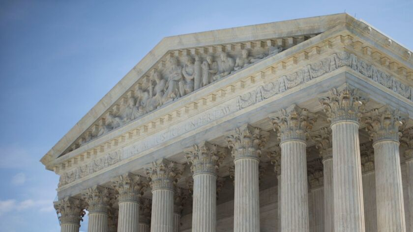 This file photo shows the Supreme Court building in Washington, D.C.