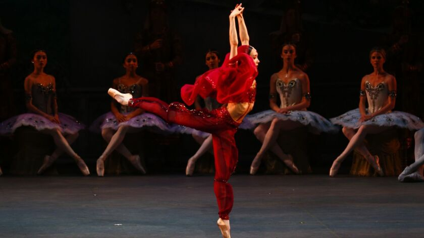 "LOS ANGELES, CALIF. - JULY 14: Hee Seo, as ""Nikiya,"" and the American Ballet Theatre performs ""La Ba"