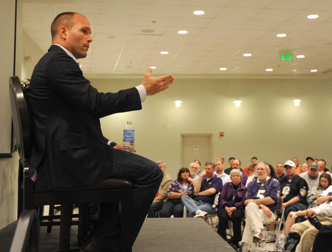 Ravens assistant general manager Eric DeCosta takes readers' questions at The Sun. The moderators were the Suns' Mike Preston and Peter Schmuck.
