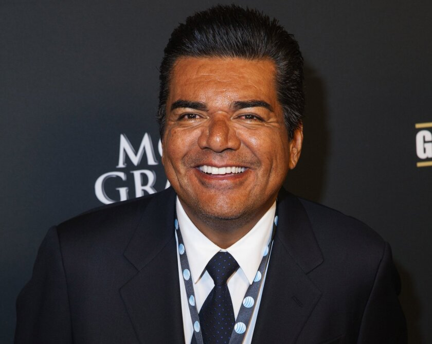FILE - In this Sept. 14, 2013 file photo, George Lopez arrives at the VIP Pre-Fight Party for the One: Mayweather vs. Canelo Fight at the MGM Grand Garden Arena in  Las Vegas. A Canada casino says a performance by the comic Lopez will go on as scheduled Friday, Feb. 28, 2014, after he was arrested