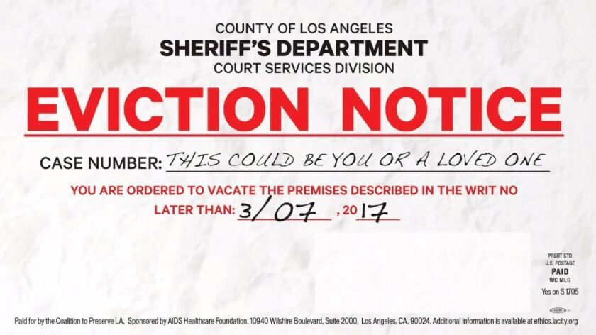 The L.A. County Sheriff's Department has demanded that Measure S supporters stop sending out mailers resembling eviction notices.