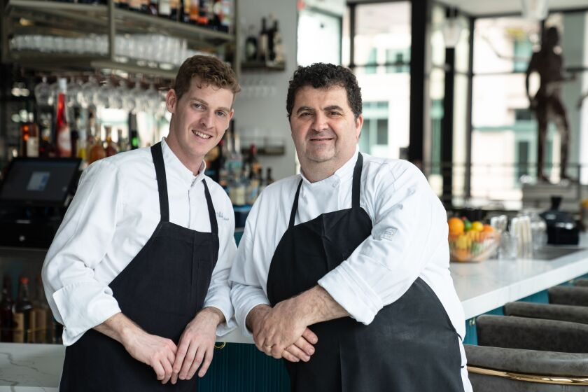 Il Dandy's Calabrian-born, Michelin-starred chefs, Luca and Antonio Abbruzzino.