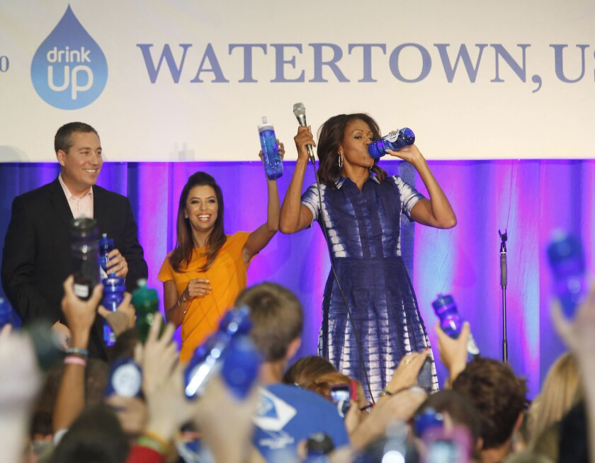The irony of Michelle Obama's water campaign