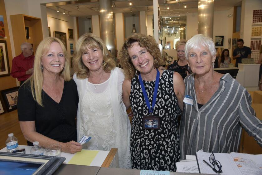 Artists Pam Linton, Rosemary Valente, Darlene Katz, Janet Scura