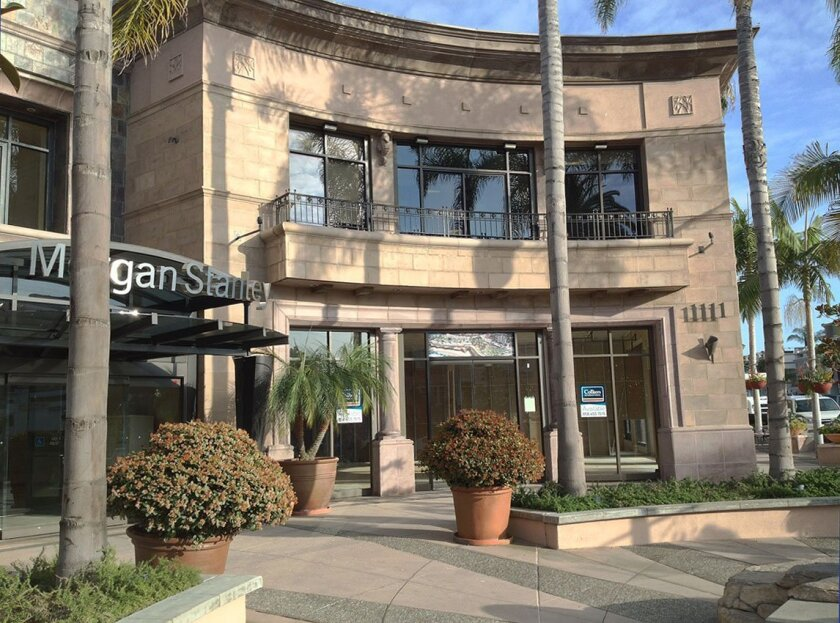 The owners of this building at Prospect Street and Herschel Avenue (once occupied by Hotel Parisi) say they have found it difficult to lease retail space. They are requesting a deviation from La Jolla's Planned District Ordinance to increase the amount of ground-floor office space allowed in the bu