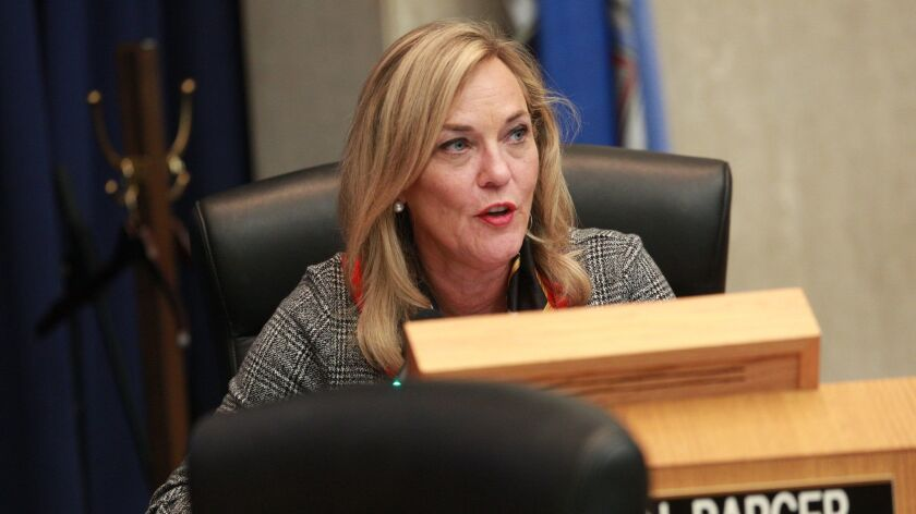 Los Angeles County Supervisor Kathryn Barger is the lead author on a motion to question Sheriff Alex Villanueva's recent reinstatement of a deputy who was fired in connection with allegations of domestic abuse and stalking.