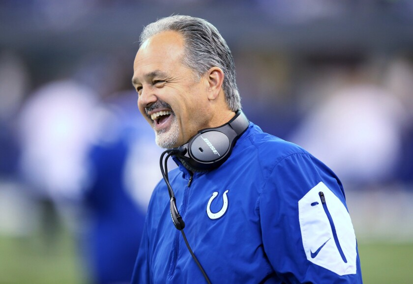 The Giants' Tom Coughlin takes his leave, but Colts' Chuck Pagano will return