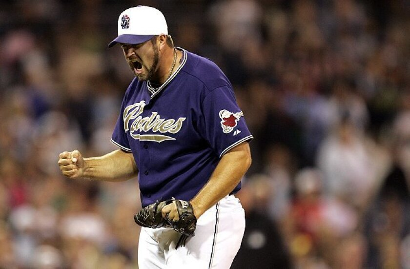 Padres closer Heath Bell has a big following at Camp Pendleton.