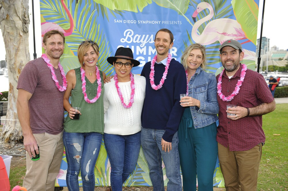 Before attending a Bayside Summer Nights show, guests at the Flamingo Friday Happy Hour sipped Milagro tequila cocktails, listened to live music and played games at the Embarcadero on Friday, June 29, 2018.