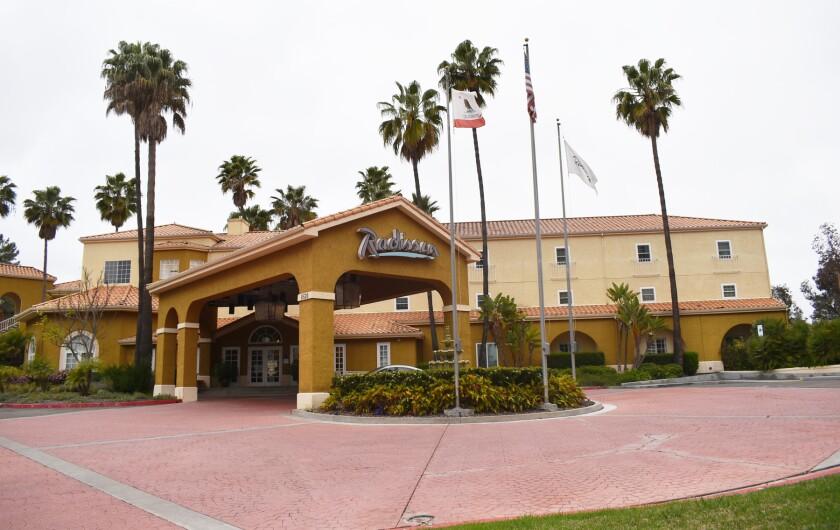 The Radisson Hotel in Rancho Bernardo.
