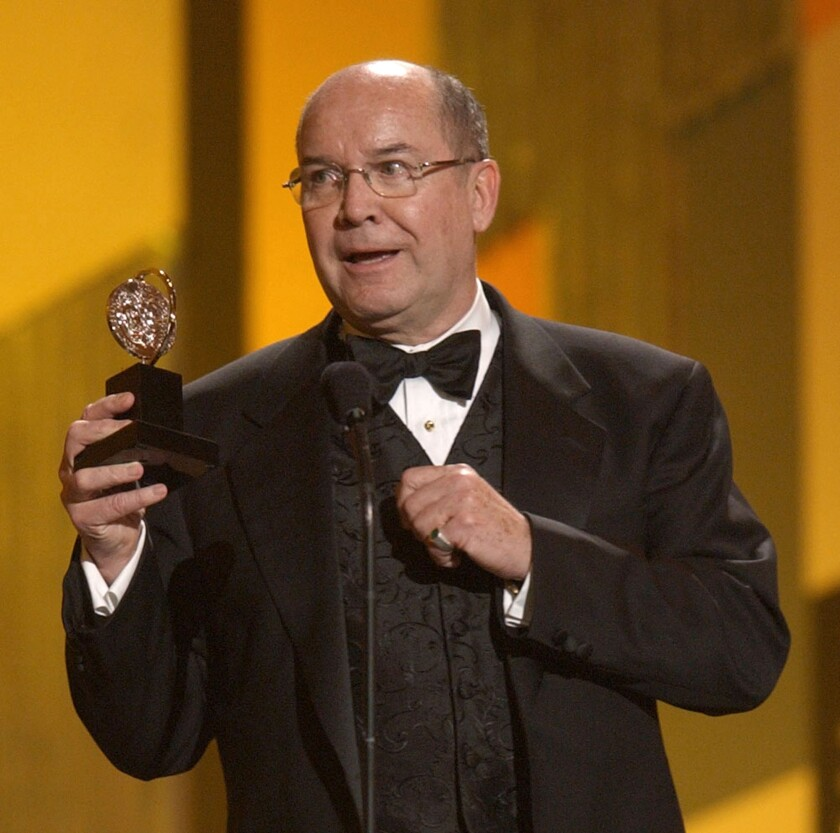 """Jack O'Brien accepts his Tony Award in 2003 for directing """"Hairspray."""""""