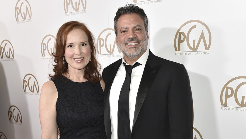 Jennifer Todd, left, and Michael De Luca were the producers of the 89th Academy Awards.