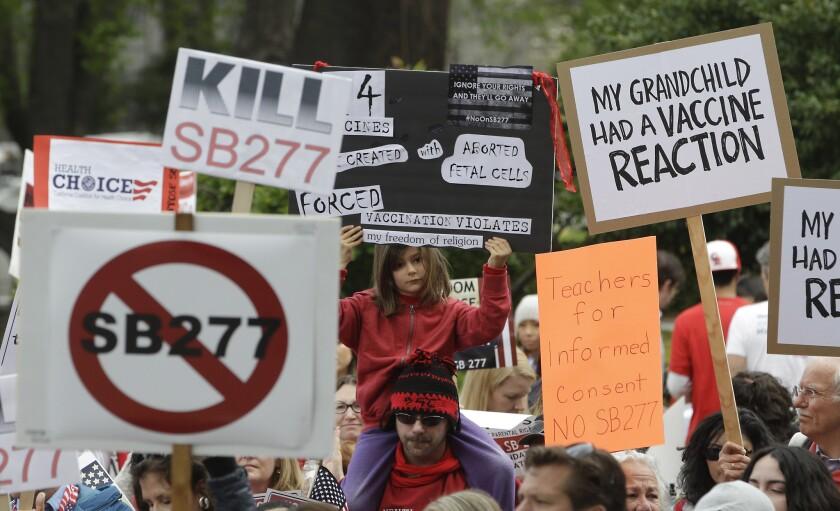 Vaccination bill protest