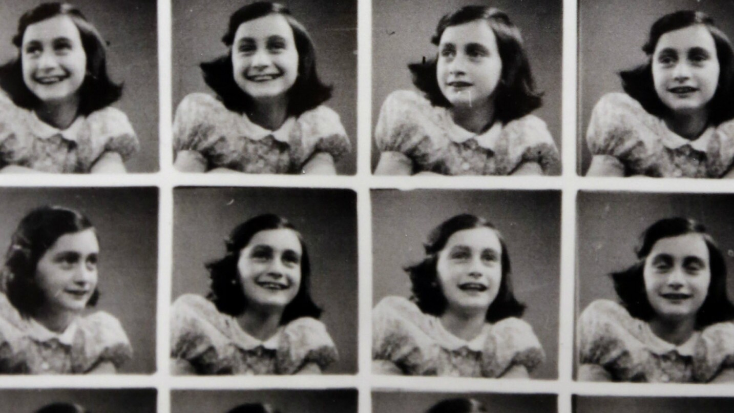 Anne Frank Holding Her Diary