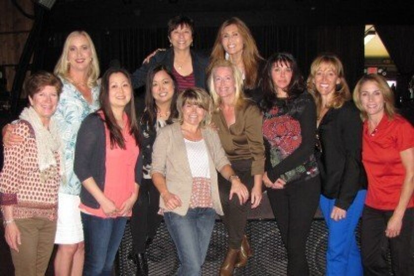 Pump Up the Volume 2014 Auction Committee: (L-R): Back row: Sophia Alsadek (Toast to Torrey host), Bobbi Karlson, Helen Nordan (event chair).  Front row: Terry Wolter, Cecilia Koo, Connie Cannon (Silent Auction chair), Holly Coughlin, Brynn Emkjer, Natalie Arnette, Michelle Seda, Suzanne Mikalojews