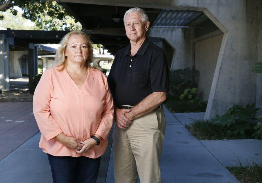 Adriana Wright, left, and retired San Diego Police Capt. Paul Ybarrondo.