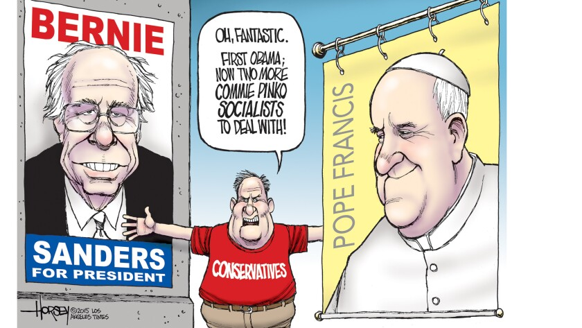 Conservatives caught between Bernie Sanders and Pope Francis