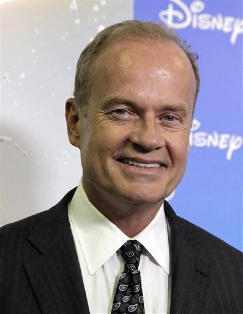 "FILE - In this Sept. 10, 2009 file photo, actor Kelsey Grammer arrives at ""The ABCs of Disney, a showcase of of the network's upcoming fall lineup, on the opening day of the D23 Expo, in Anaheim, Calif.  (AP Photo/Reed Saxon, file)"