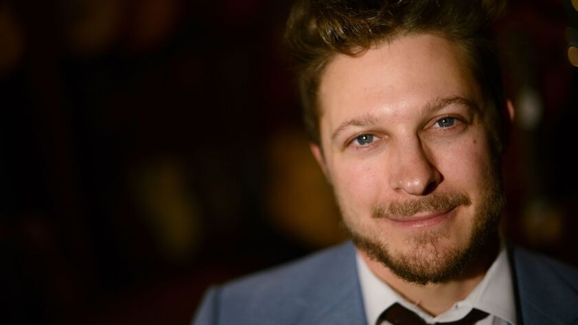 """Benjamin Scheuer, star of """"The Lion,"""" on view at the Geffen Playhouse in Los Angeles."""