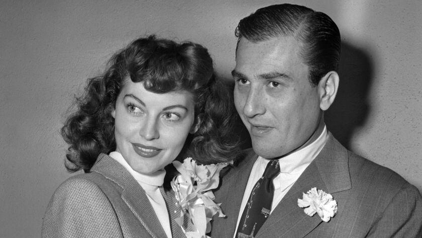 Bandleader Artie Shaw and Ava Gardner in 1945.