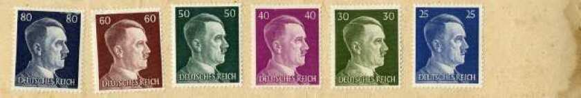 Germany, circa 1938: Adolf Hitler received a 1-pfennig royalty on the sale of every stamp that bore his likeness.