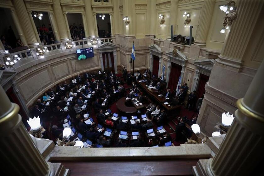 Argentina's Senate on Nov. 14, 2018, begins debate on a 2019 budget bill spearheaded by President Mauricio Macri's administration. EPA-EFE/Juan Ignacio Roncoroni