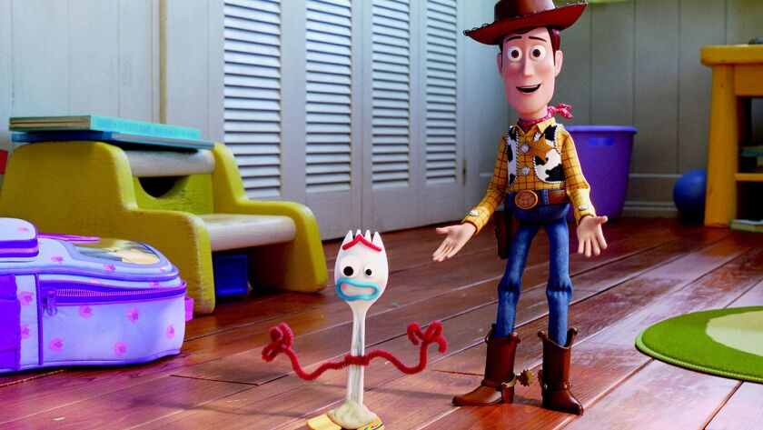 """Forky and Woody in """"Toy Story 4"""""""
