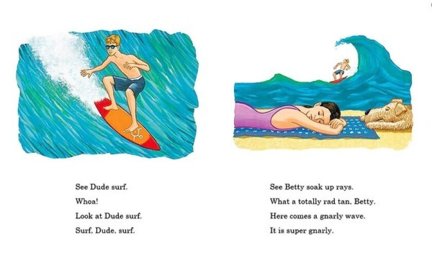 """Pages from the book """"Dude: Fun with Dude and Betty"""" by Lisa Pliscou."""