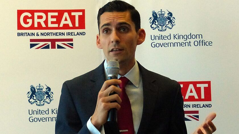 Newly appointed UK Consul for San Diego, David Pasquini.