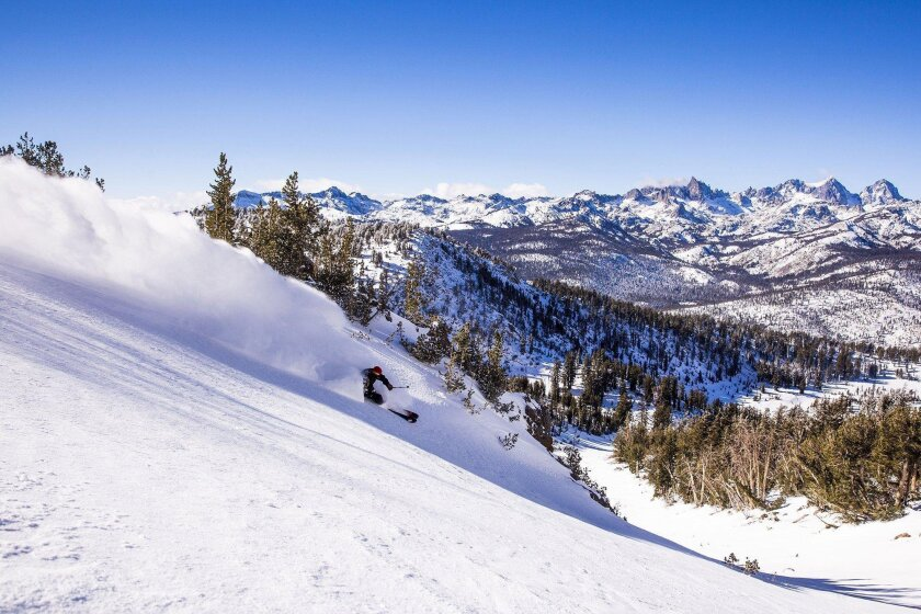 More than 65 percent of Mammoth Mountain is intermediate or beginner terrain. The resort is expecting a bountiful snow season.