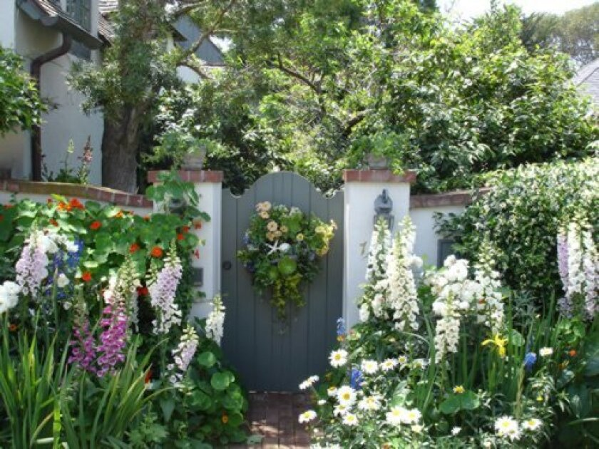 A previous Secret Garden Tour of La Jolla included Linda Marrone's garden. Each year, the gardens available for viewing are revealed the day of the tour. Courtesy