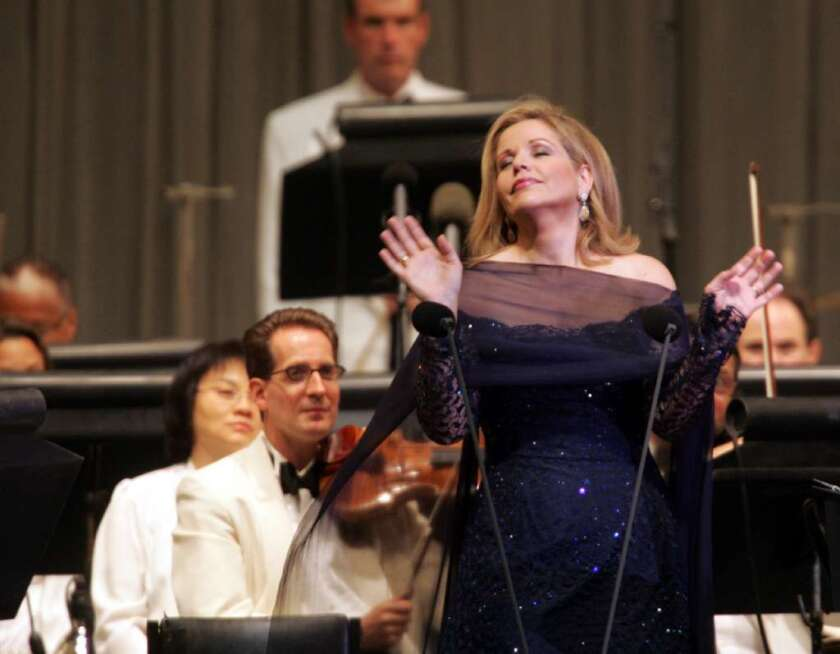 Soprano Renee Fleming at the Hollywood Bowl in 2004.
