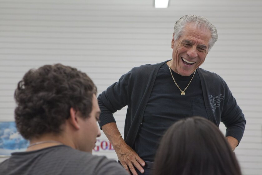 """National City, CA, USA. Thursday, August 01, 2013._ Longtime local Latino theater producer Bill Virchis directs """"Detained in the Desert,"""" the play that will open his multicultural theater company Teatro Mascara Magica's two-year residency at the La Jolla Playhouse on Aug. 29. Virchis"""