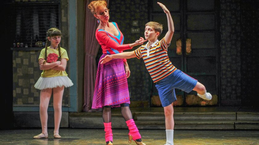 """Samantha Blaire Cutler, Janet Dickinson and Noah Parets (left to right) in """"Billy Elliot the Musical."""""""
